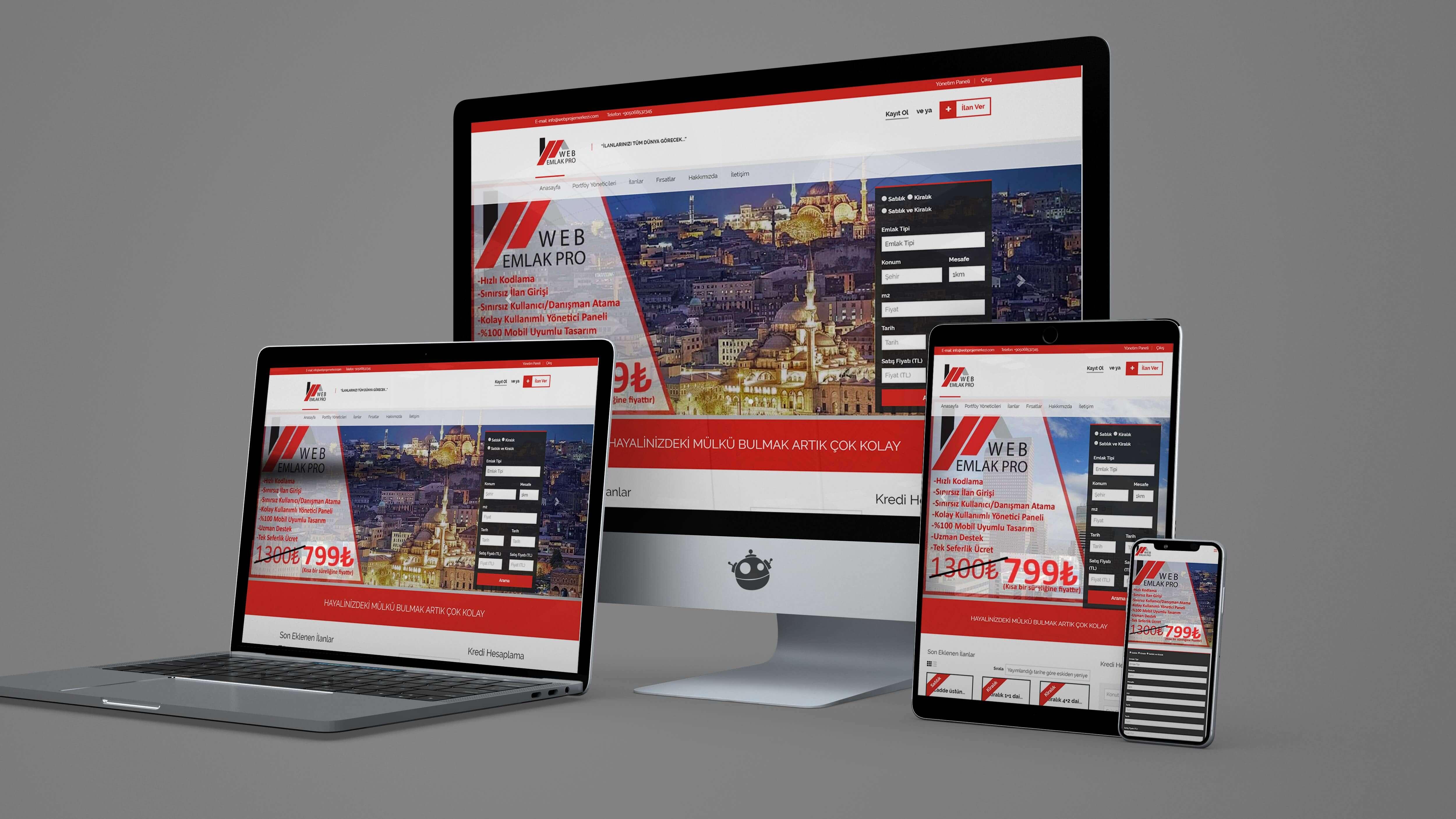 Şunun resmi: Web Emlak Pro hazır paketler - site icin - Web – Hızlı Çözümler